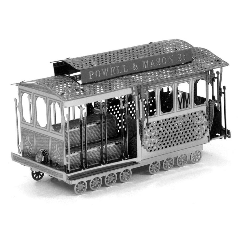 Creative Sightseeing Tram 3D Metal High-quality DIY Laser Cut Puzzles Jigsaw Model Toy 2018 news mu 3d metal puzzle tf optimus prime g1 megatron model ym l055 c diy 3d laser cut assemble jigsaw toys for audit