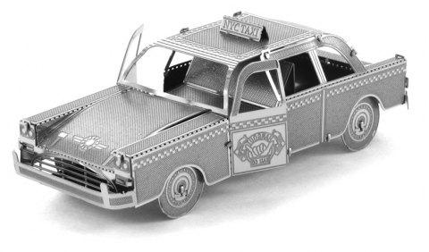 Creative Taxi 3D Metal High-quality DIY Laser Cut Puzzles Jigsaw Model Toy - SILVER