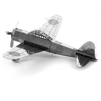 Creative Zero Fighter 3D Metal High-quality DIY Laser Cut Puzzles Jigsaw Model Toy - SILVER