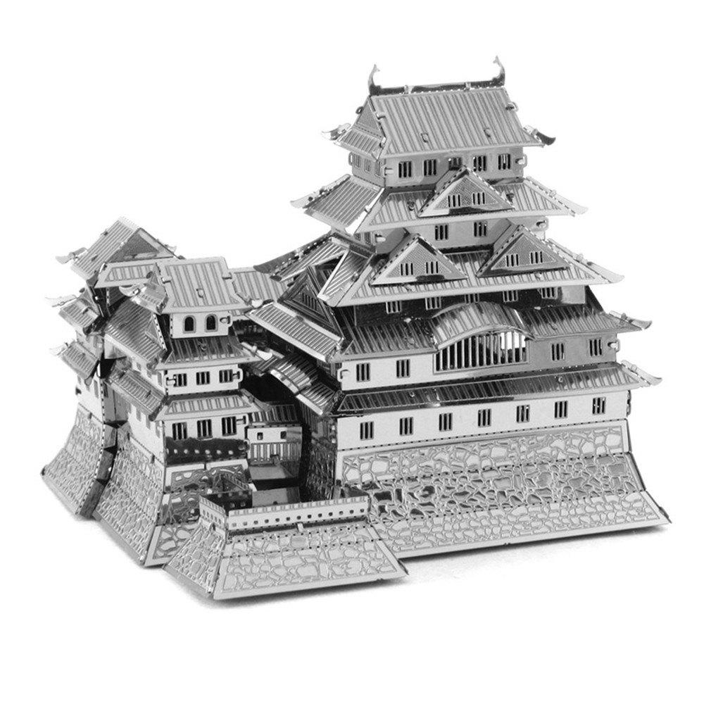 Creative Himeji Castle 3D Metal High-quality DIY Laser Cut Puzzles Jigsaw Model Toy 2018 news mu 3d metal puzzle tf optimus prime g1 megatron model ym l055 c diy 3d laser cut assemble jigsaw toys for audit