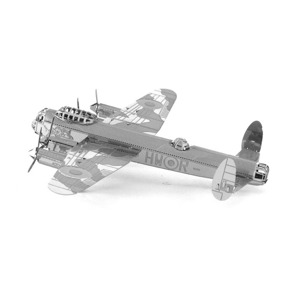 Creative Lancaster Bomber 3D Metal High-quality DIY Laser Cut Puzzles Jigsaw Model Toy creative wright aircraft 3d metal high quality diy laser cut puzzles jigsaw model toy
