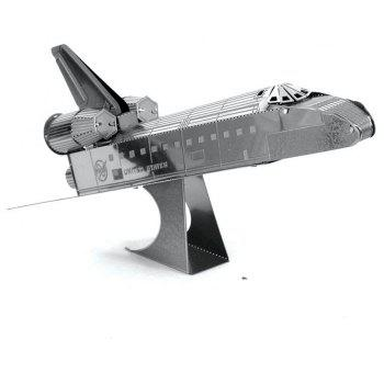 Creative Space Shuttle 3D Metal High-quality DIY Laser Cut Puzzles Jigsaw Model Toy - SILVER