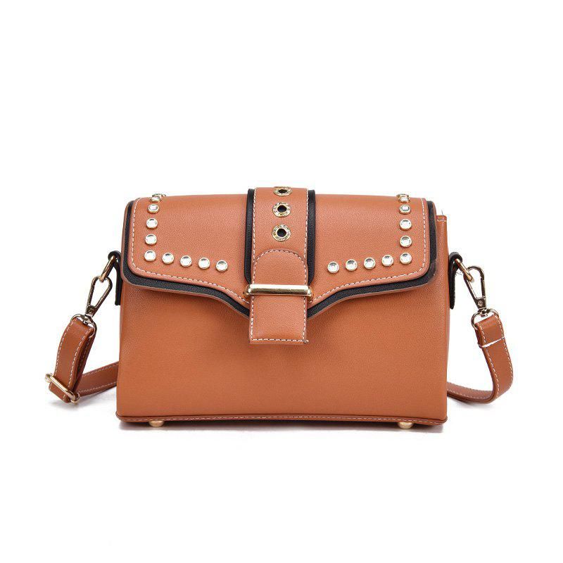 Fashion Wild Shoulder Trend Messenger Bag - ORANGE SALMON