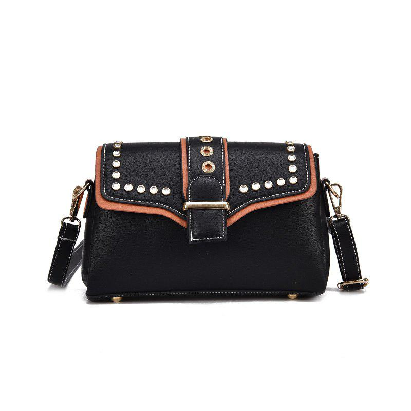 Fashion Wild Shoulder Trend Messenger Bag - BLACK