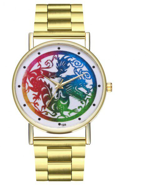 Zhou Lianfa T26 New Fashion Leisure Dragon Watch - GOLD