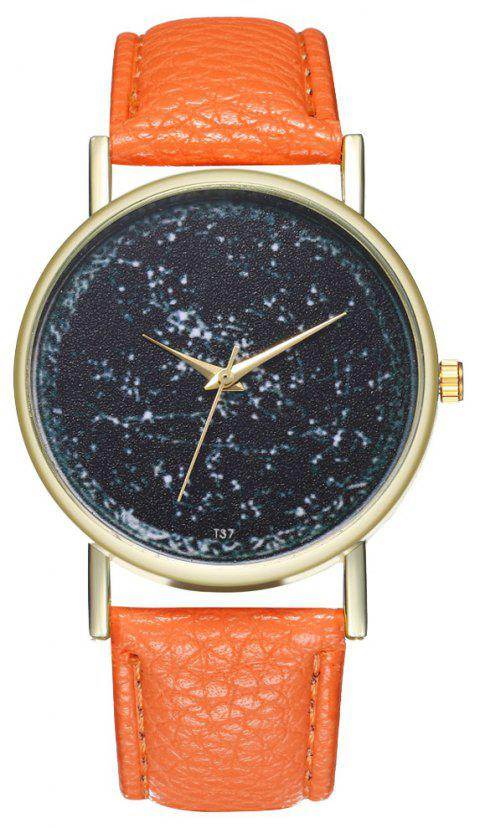 Zhou Lianfa T37 Trendy Casual Fashion Quartz Watch - ORANGE