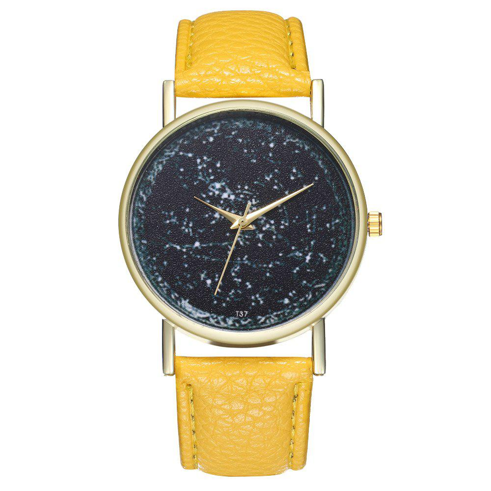 Zhou Lianfa T37 Trendy Casual Fashion Quartz Watch - YELLOW