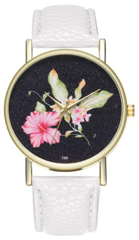ZhouLianFa T35 Casual Flower Pattern Women Watch - WHITE