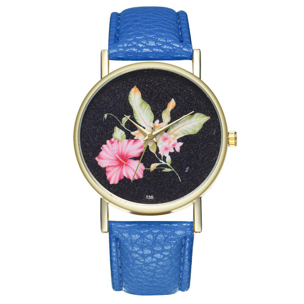 ZhouLianFa T35 Casual Flower Pattern Women Watch - SKY BLUE