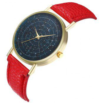 ZhouLianFa T36 Simple Casual Star Quartz Watch - RED