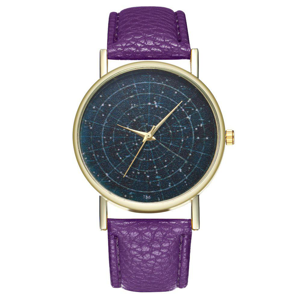 ZhouLianFa T36 Simple Casual Star Quartz Watch - VIOLET