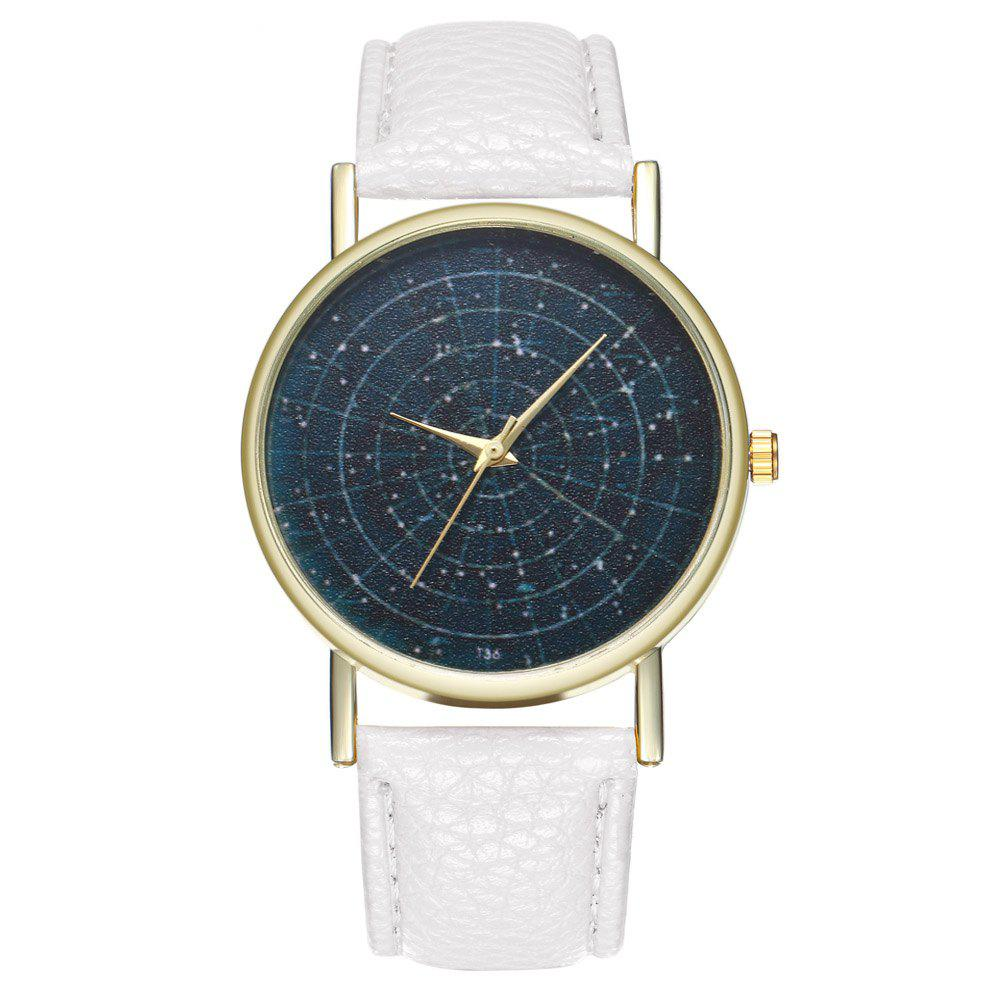ZhouLianFa T36 Simple Casual Star Quartz Watch - WHITE
