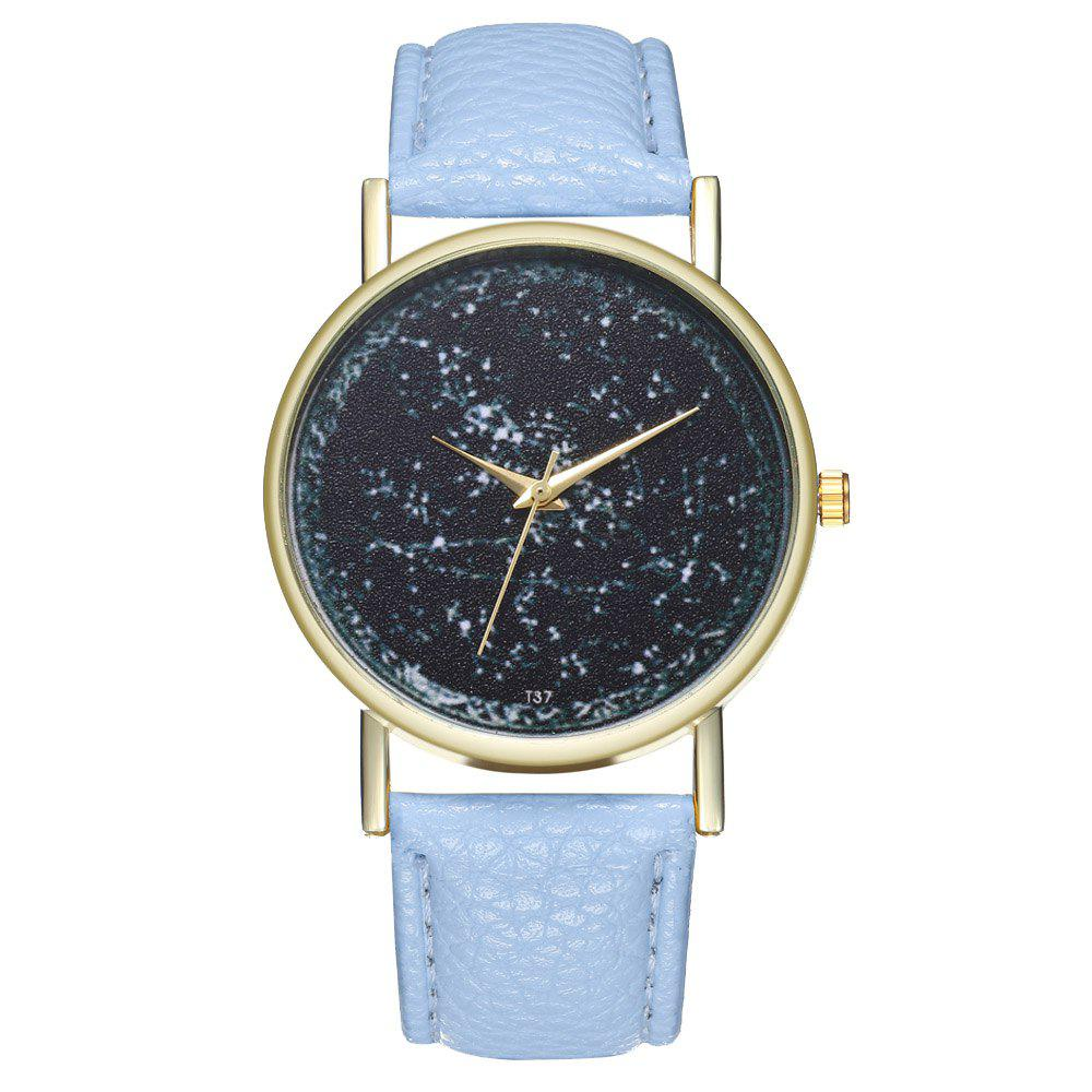 Zhou Lianfa T37 Generous Fashion Watch - PASTEL BLUE