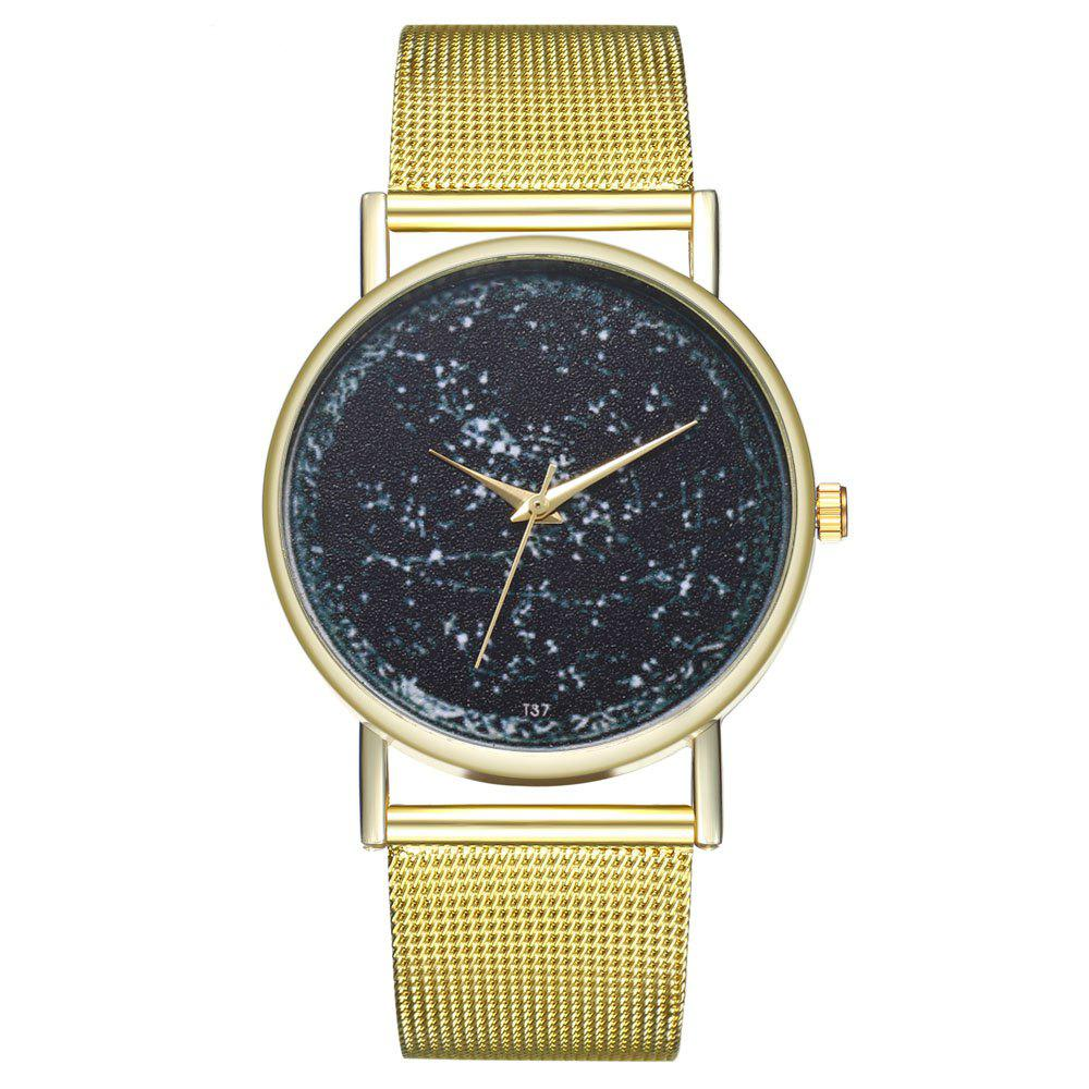 kingou T38 Vintage Fine Letter Quartz Watch - GOLD