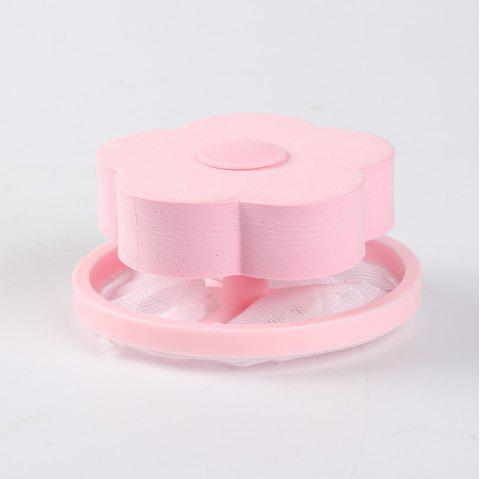 Flower Shape Mesh Filter Bag Laundry Ball Floating Style Washing Machine Filtration Hair Removal Device Cleaning Tools - PINK