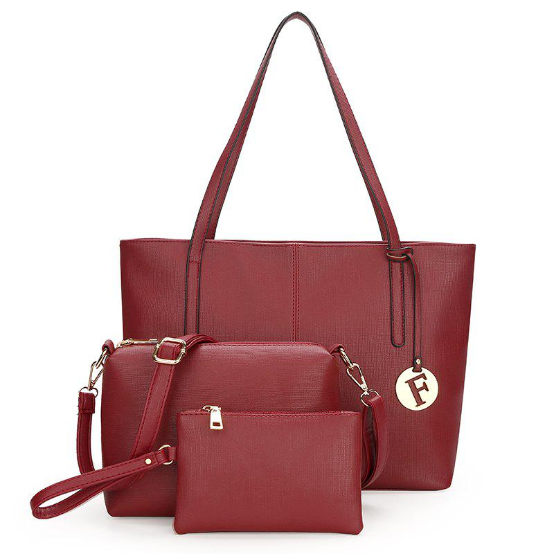 New Women'S All-match Handbag Fashion Shoulder Bag - BURGUNDY