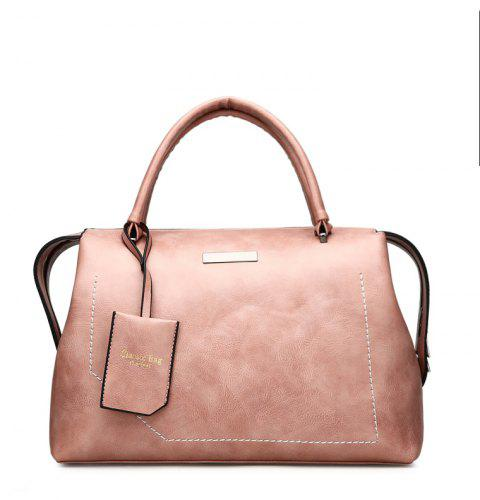 The New Wild Oblique Messenger Shoulder Simple Personality European and American Fashion Diagonal Handbag - MISTY ROSE