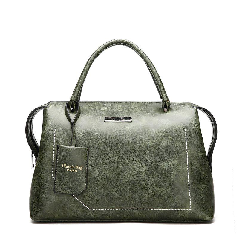 The New Wild Oblique Messenger Shoulder Simple Personality European and American Fashion Diagonal Handbag - SEAWEED GREEN