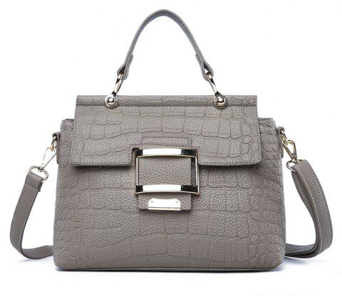 New Soft Leather Handbag Bag Fashion Simple Atmosphere Wild Shoulder Messenger - GRAY CLOUD