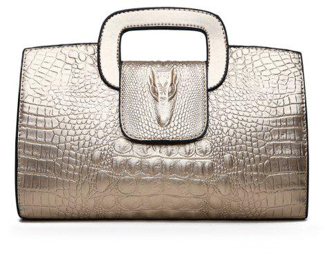 Snake Leather Clutch Bag Female European and American Fashion Portable Handbags Small - GOLD