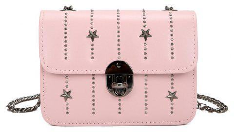 Chain Single Shoulder Bag Inclined Across Small Package - LIGHT PINK