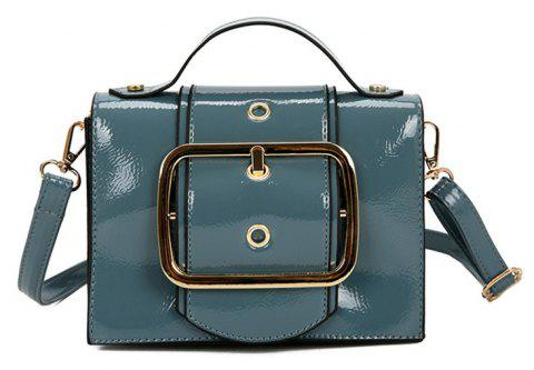 Package Cover Type Lock Inclined Shoulder Bag - LIGHT SKY BLUE
