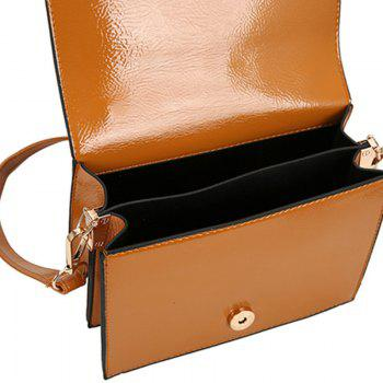Package Cover Type Lock Inclined Shoulder Bag - BROWN