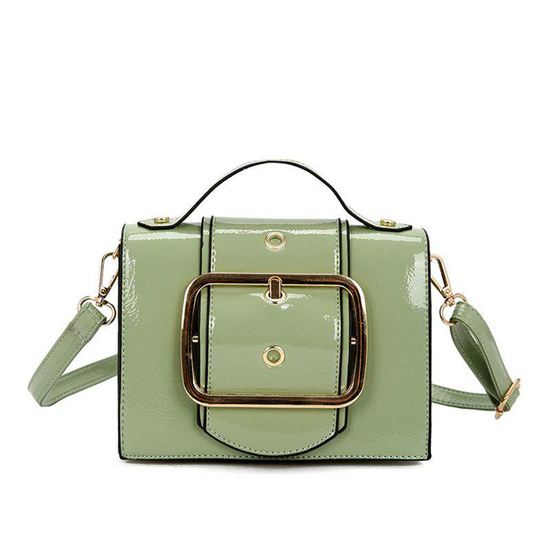 Package Cover Type Lock Inclined Shoulder Bag - CAMOUFLAGE GREEN