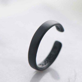 Cold Fashion Personality Black Ring - BLACK 5.5