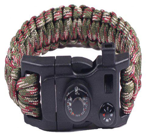 Multifunctional Outdoor Camping Rescue Survival Bracelet - CAMOUFLAGE GREEN
