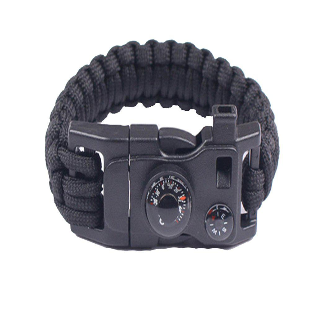 Multifunctional Outdoor Camping Rescue Survival Bracelet - BLACK