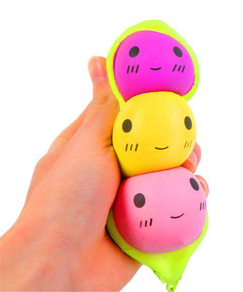 Jumbo Squishy Stylish Peas Hang PU Stress Reliever Toy - GREEN