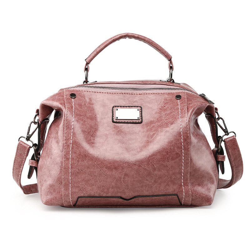 Female Fashion Wild Shoulder Messenger Bag Atmosphere Personality Boston Handbags - MISTY ROSE