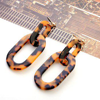 Japanese and Korean Version of The Simple Big-Name Acetic Acid Version of Leopard Earrings Acrylic Plate - multicolor A