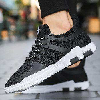 New Spring and Autumn Solid Color Lightweight Comfortable Casual Shoes - BLACK 40