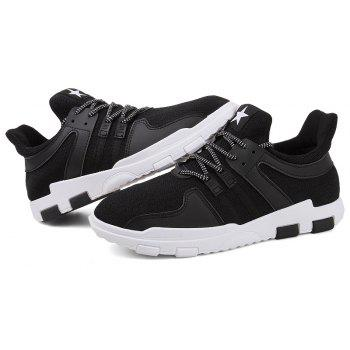 New Spring and Autumn Solid Color Lightweight Comfortable Casual Shoes - BLACK 44