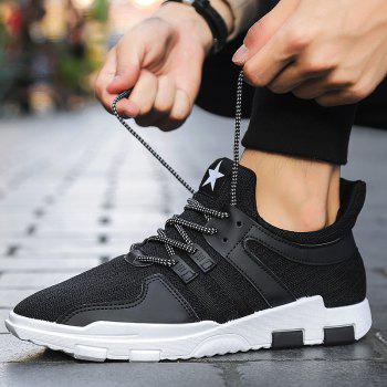 New Spring and Autumn Solid Color Lightweight Comfortable Casual Shoes - BLACK 39