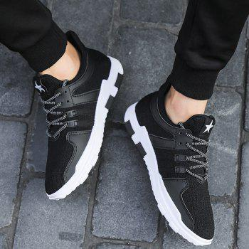 New Spring and Autumn Solid Color Lightweight Comfortable Casual Shoes - BLACK 41