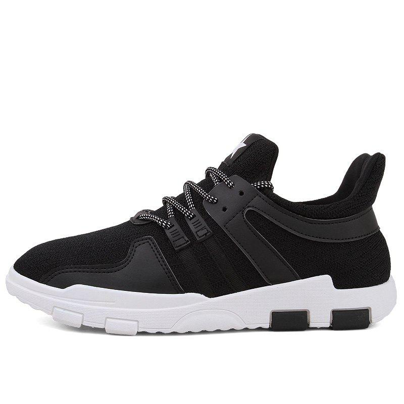 New Spring and Autumn Solid Color Lightweight Comfortable Casual Shoes - BLACK 43