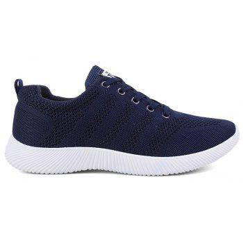 New Men Round Head Youth Breathable Cool Mesh Casual Sports Shoes - DENIM DARK BLUE 40