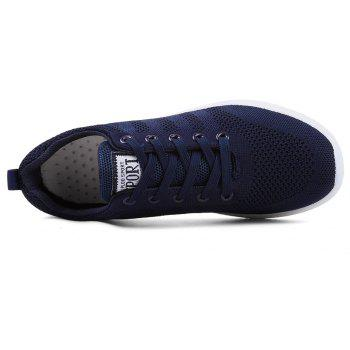 New Men Round Head Youth Breathable Cool Mesh Casual Sports Shoes - DENIM DARK BLUE 42