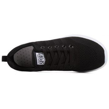 New Men Round Head Youth Breathable Cool Mesh Casual Sports Shoes - BLACK 40