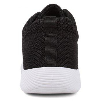 New Men Round Head Youth Breathable Cool Mesh Casual Sports Shoes - BLACK 39