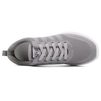 New Men Round Head Youth Breathable Cool Mesh Casual Sports Shoes - GRAY CLOUD 41