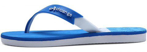 New Men Pure Color Plane Flat Beach Casual Slippers - DAY SKY BLUE 40