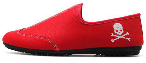 New Men Solid Color Fashion Peas Shoes - CHILLI PEPPER 39
