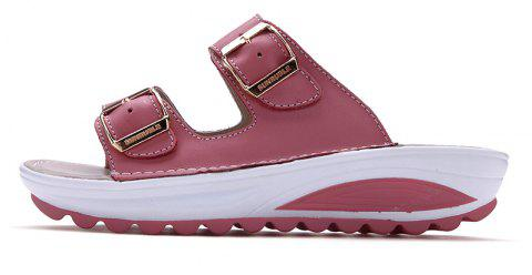 New Ladies Fashionable Leather Slippers - PINK 40