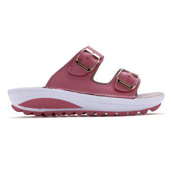 New Ladies Fashionable Leather Slippers - PINK 39