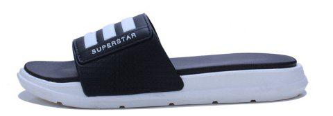 New Men Summer Trend Dry and Clear Lightweight Slippers - BLACK 39