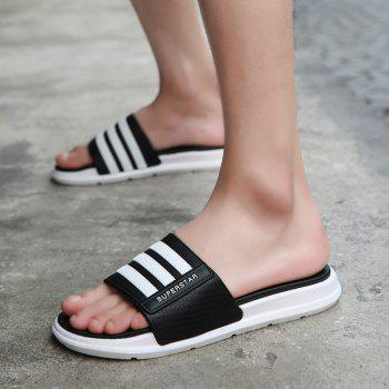 New Men Summer Trend Dry and Clear Lightweight Slippers - BLACK 40